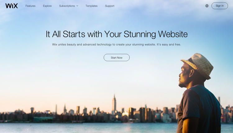 Wix - один из самых простых конструкторов сайтов