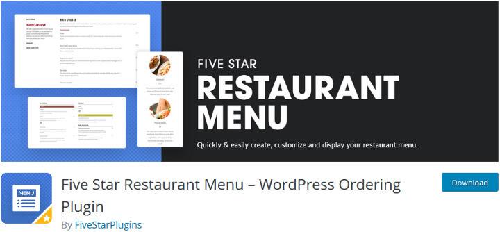 Лучшие плагины меню ресторана