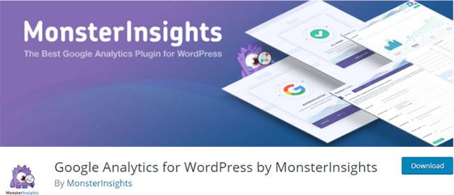 MonsterInsights плагин для подключения Google Analytics