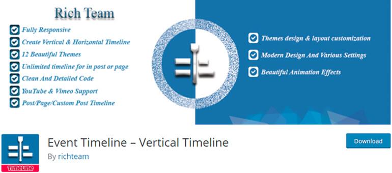 Event Timeline плагин временной шкалы