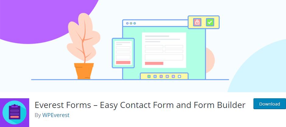 Everest Forms  позволяет легко и быстро создавать красивые контактные формы