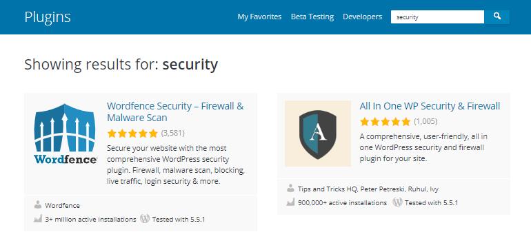 Бесплатные плагины безопасности WordPress