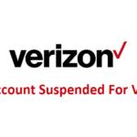 аккаунт Verizon заблокирован для проверки