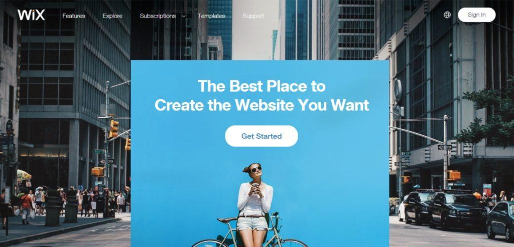 Wix - это конструктор веб-сайтов