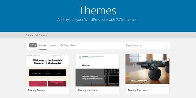 Параметры дизайна и настройки в WordPress